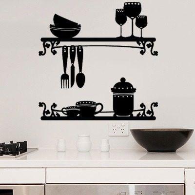 vinilos para pared de cocina buscar con google