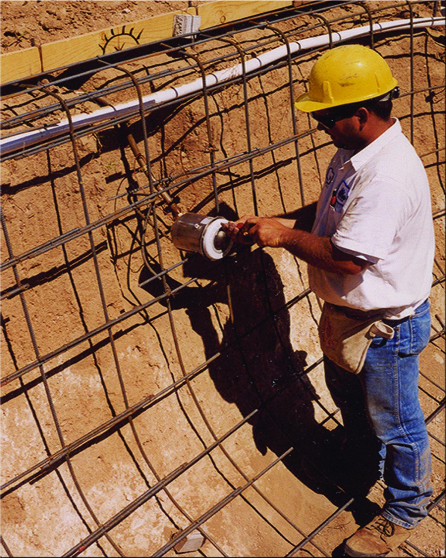 Pool Builder In Tucson, AZ Installing Light Fixtures