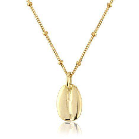 5e6b6e4da23 Argent Of London 9Ct Gold Coffee Bean Pendant - Goldfil Chain Optional  Extra: Amazon.co.uk: Jewellery