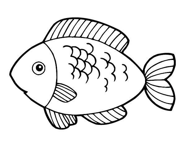 Pesce Con Squame Disegnate Da Colorare Disegni Da Colorare