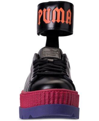 f9a6813efa308a Puma Women s Fenty x Rihanna Ankle Strap Creeper Casual Sneakers from Finish  Line - Black 7.5