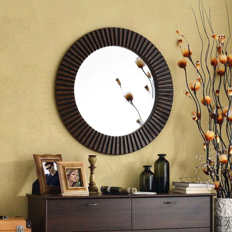 Modern Target Round Decorative Wall Mirror Brass Image Collection ...