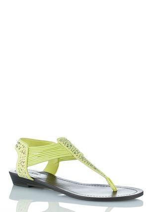 2c7fd91c6 Cato Fashions Crystal Stretch T Strap Thong Sandals  CatoFashions ...
