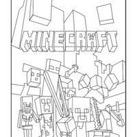 desenho de logo minecraft para colorir joão pinterest