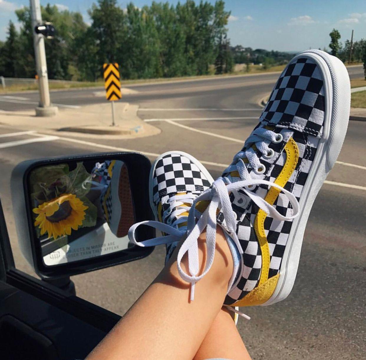 vans moutarde femme
