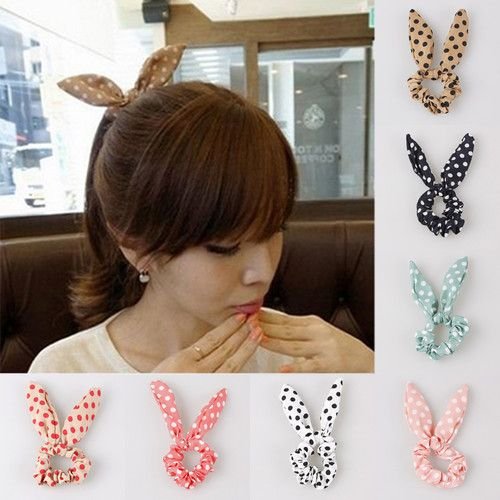 Cute Rabbit Ear Hair Band Japan Korean Style Ponytail Holder Hair ...