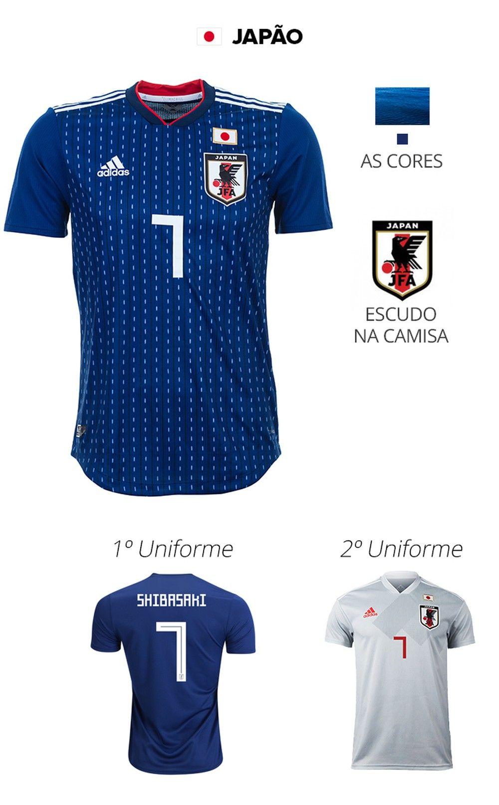 cfcff9dbc9bf9 As camisas das 32 seleções da Copa