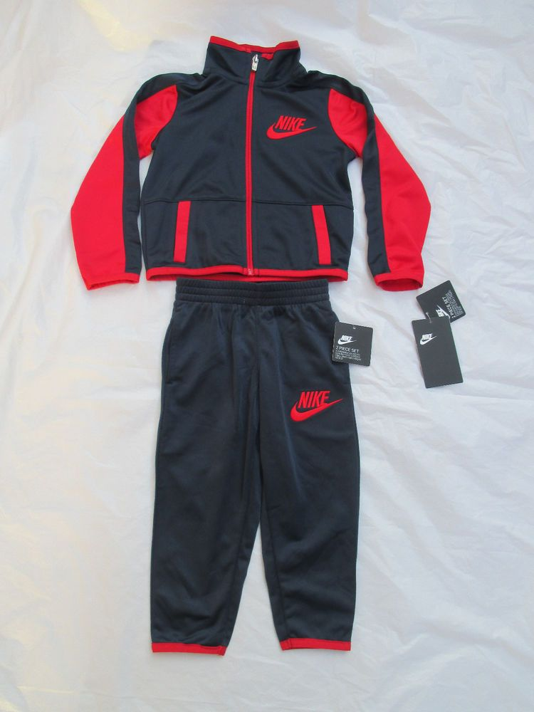 e20b9700ebc Nike Boys Suit Tracksuit 2 Piece Set Color Blue Red Size Newborn-5T 86C625 # Nike #CasualFormalParty
