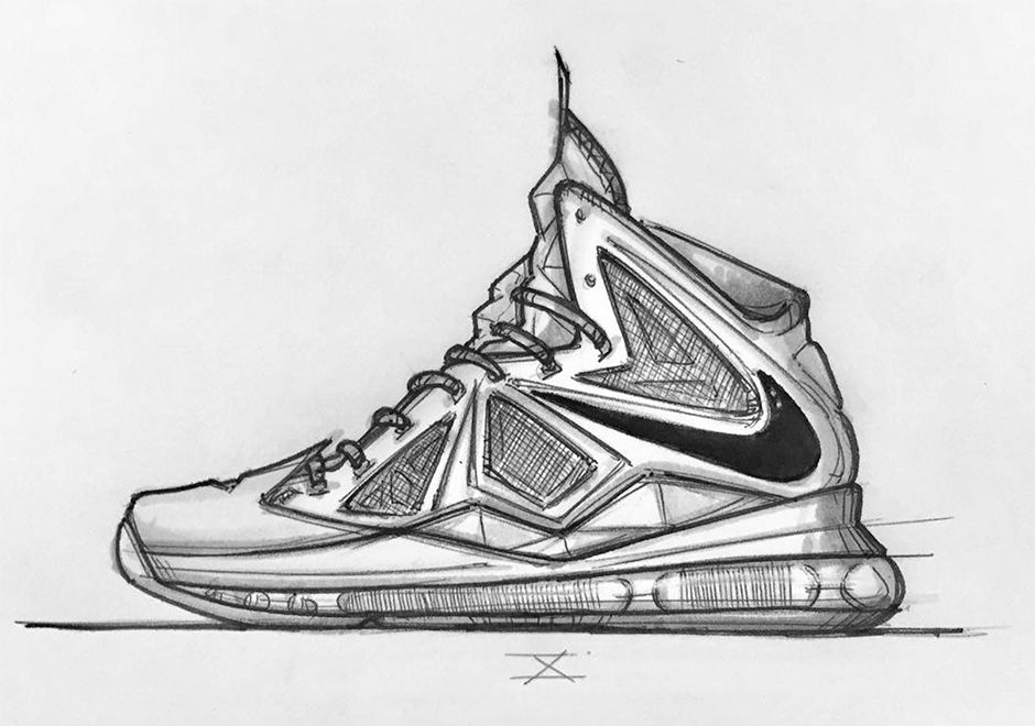 Take An Artistic Trip Down LeBron James Sneaker History Lane With This Sketched Recap Of Some