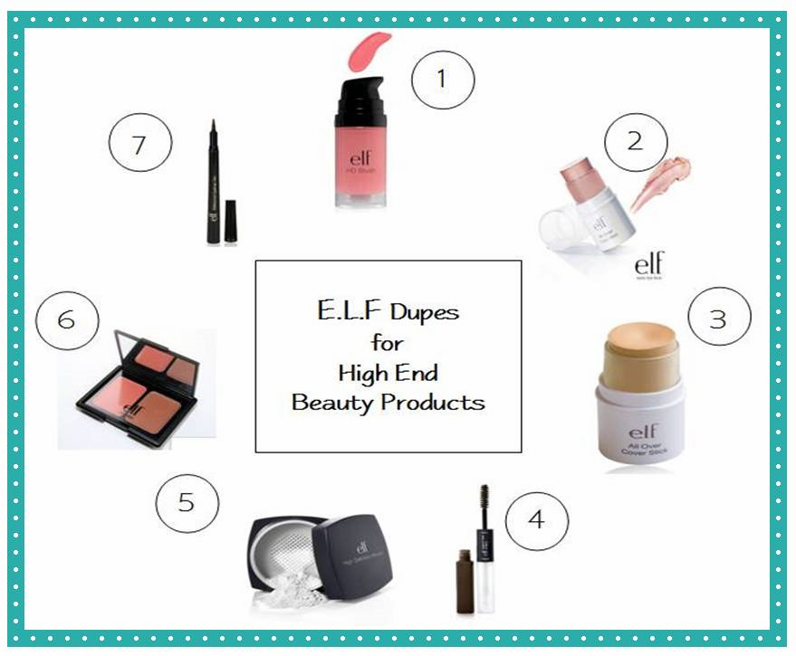 Best E.L.F. Cosmetics 7 Dupes for High End and Brand Name