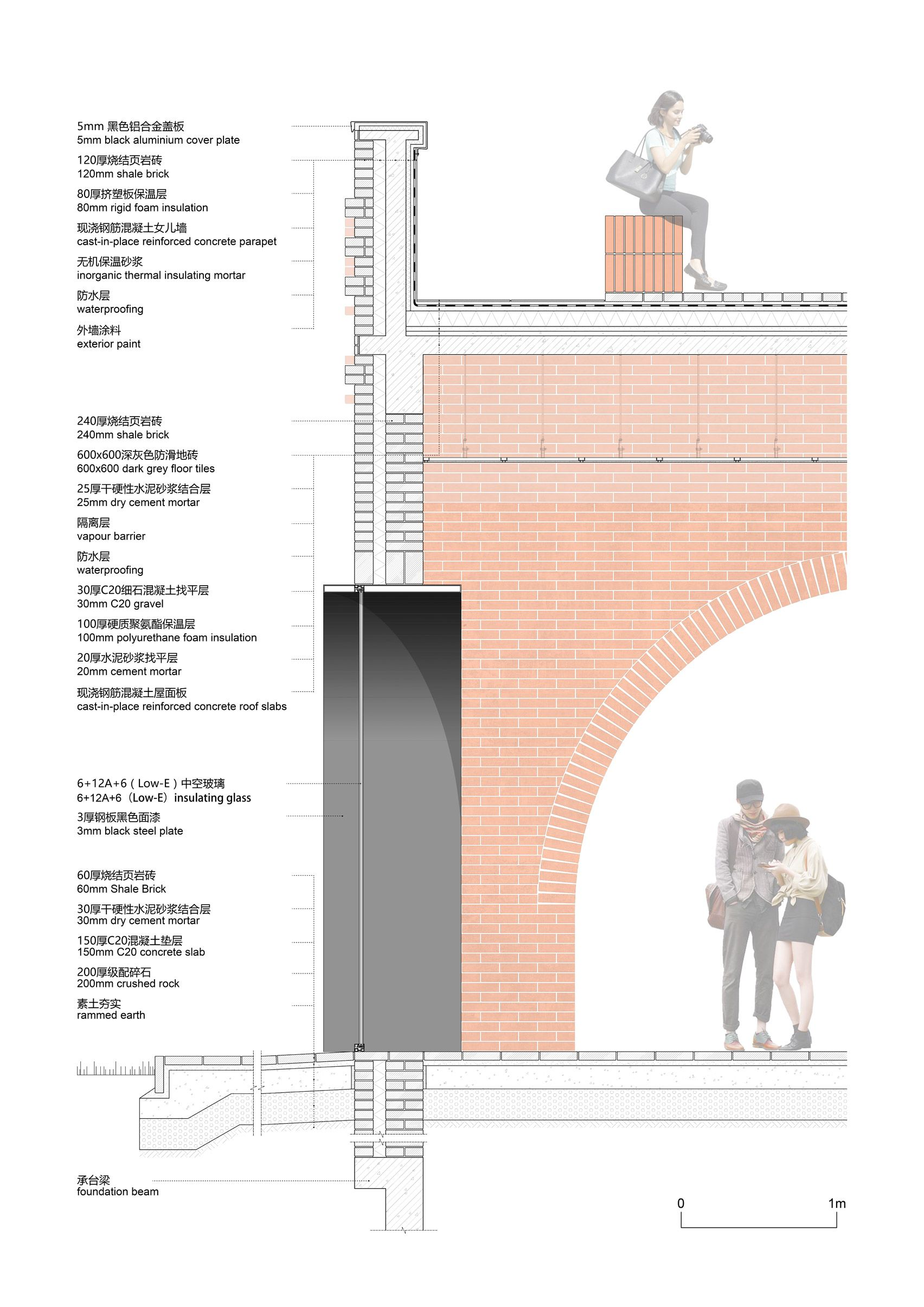 Interval Architects Completes Tower Of Bricks Botanic Art Centre In China Brick Arch Brick Detail Brick