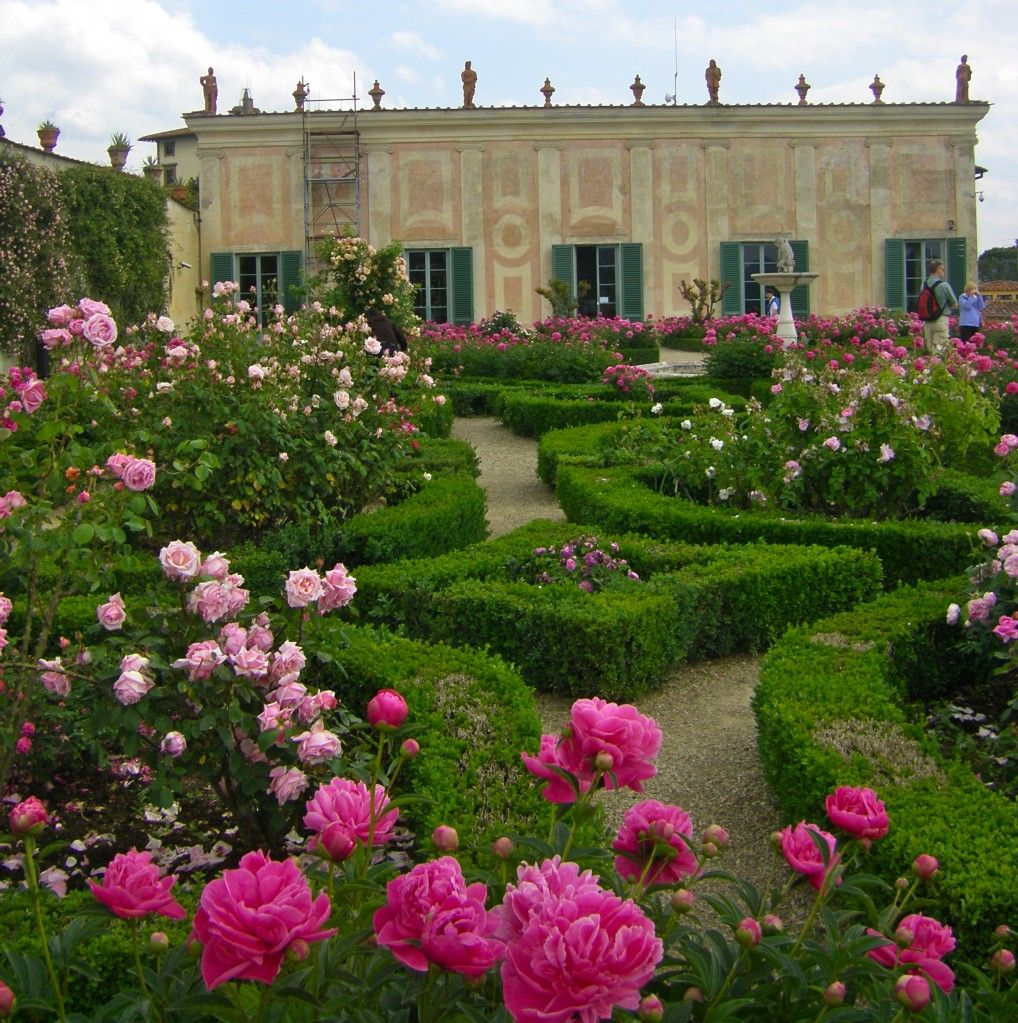 The Rose Garden In The Boboli Gardens In Florence Italy Mid