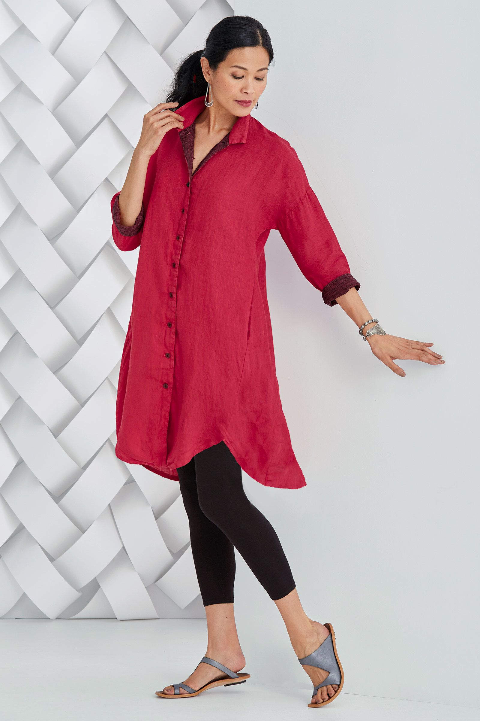 Positano Shirt Dress by Lisa Bayne   This fantastic shirtdress has