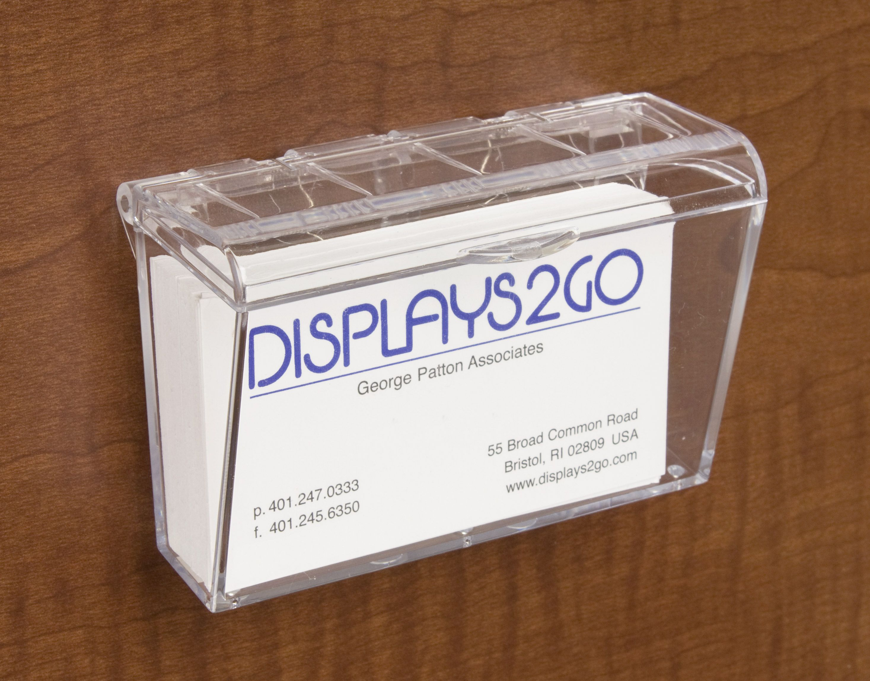Single Pocket Acrylic Business Card Holder For Wall Hinged Outdoor Fits 60 Clear In 2021 Business Card Holders Plastic Business Cards Card Holder