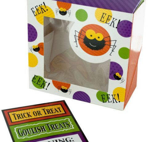 halloween spider treat boxes with stickers Case of 18