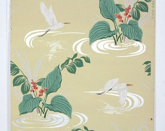 REMNANT Of Vintage Wallpaper Single 40 Inch Piece
