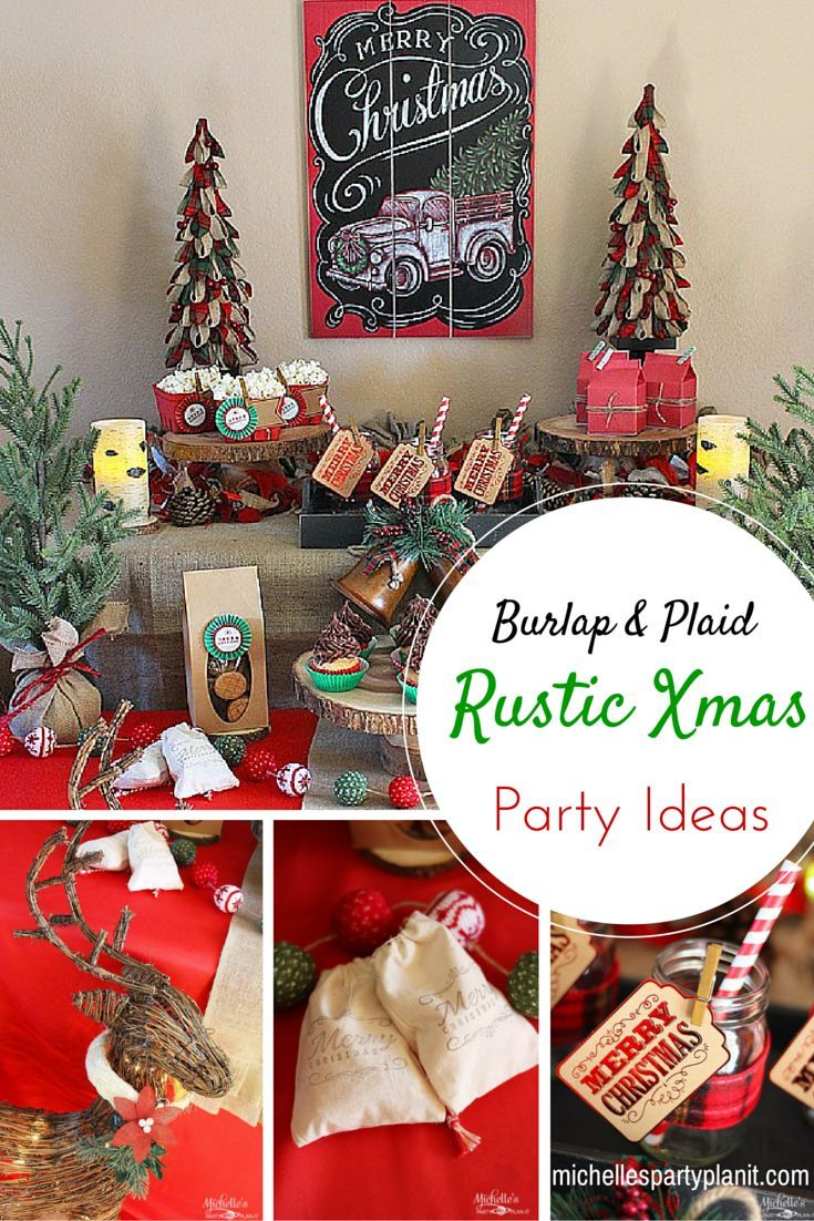 Rustic christmas party decor - Rustic Christmas Party Ideas By Michelle S Party Plan It Be On Trend With Plaid And Burlap This Holiday Season