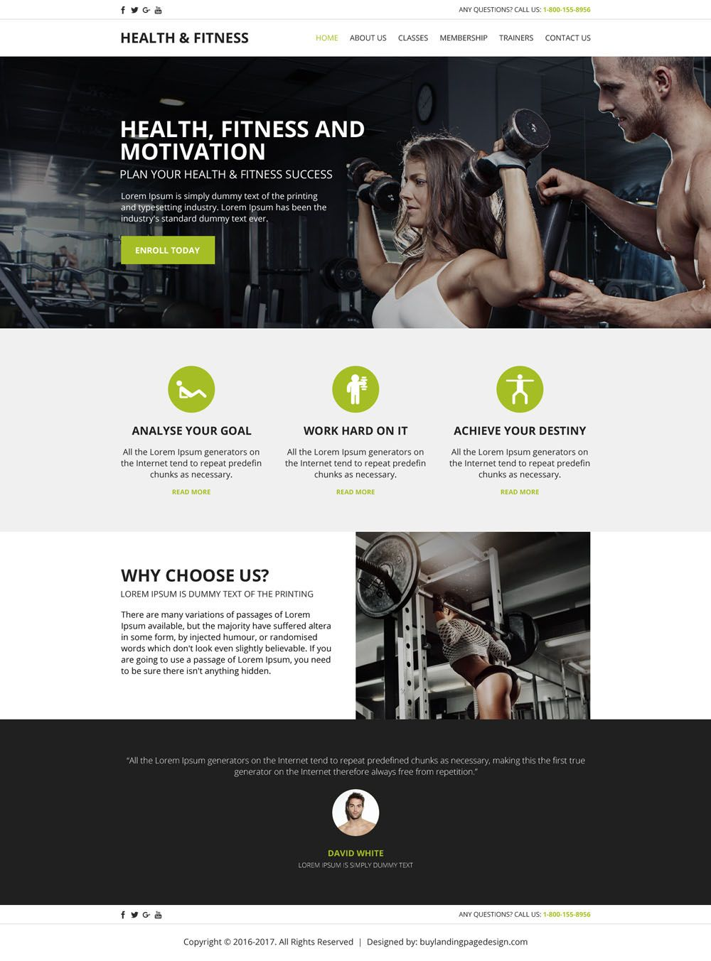 Create your health and fitness website with our html templates ...