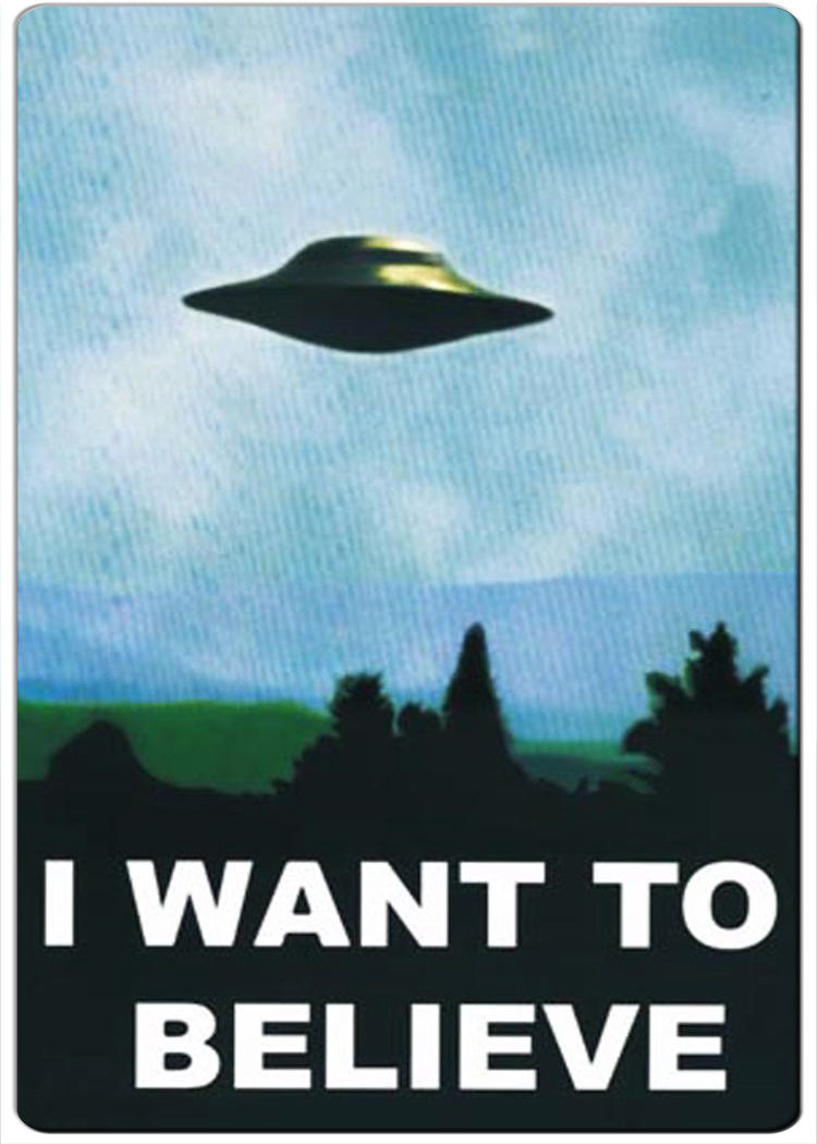 2 95 I Want To Believe Retro Fridge Magnet Ebay Collectibles