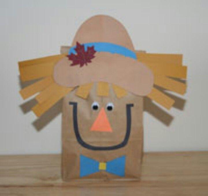 Paperbag scarecrow