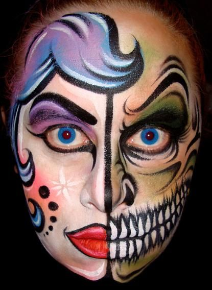 20+ Cool and Scary Halloween Face Painting Ideas - 9 - Pelfind