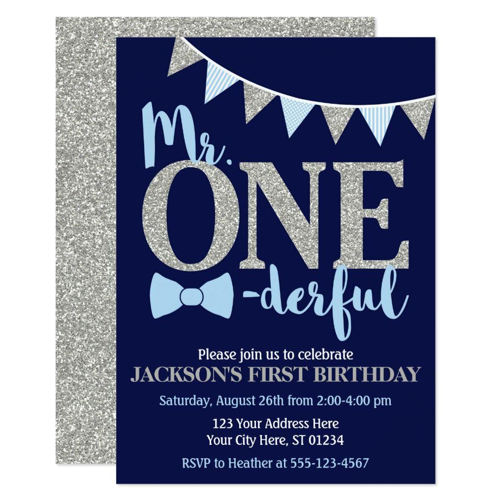 Birthday Boy Blam 3 By Nailesi: Mr. ONEderful Birthday Invitation In 2020