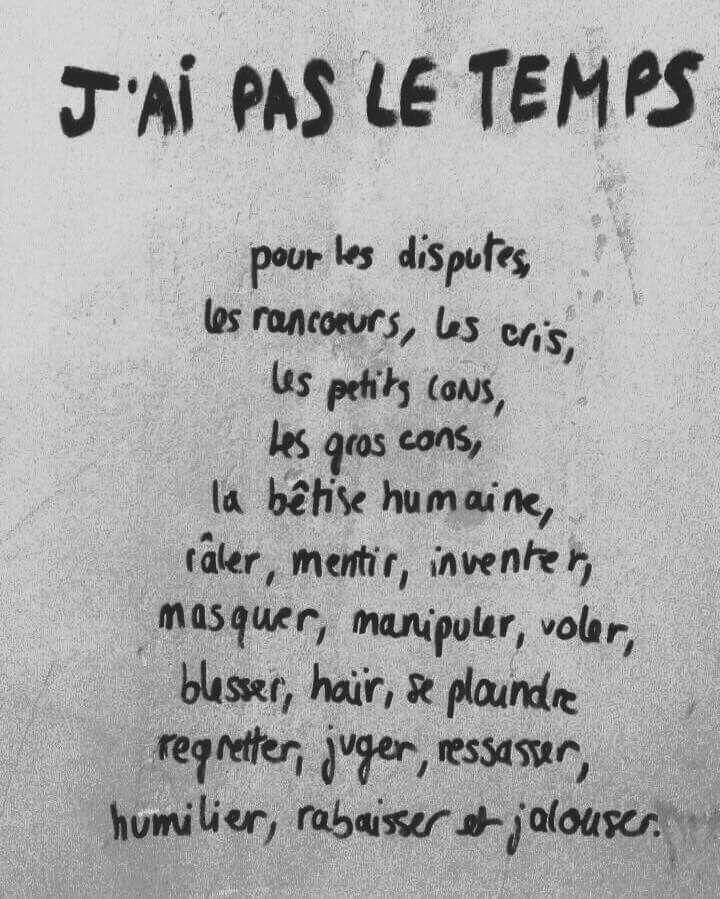 J Ai Pas Le Temps Quotes Citas Citations Temps Time