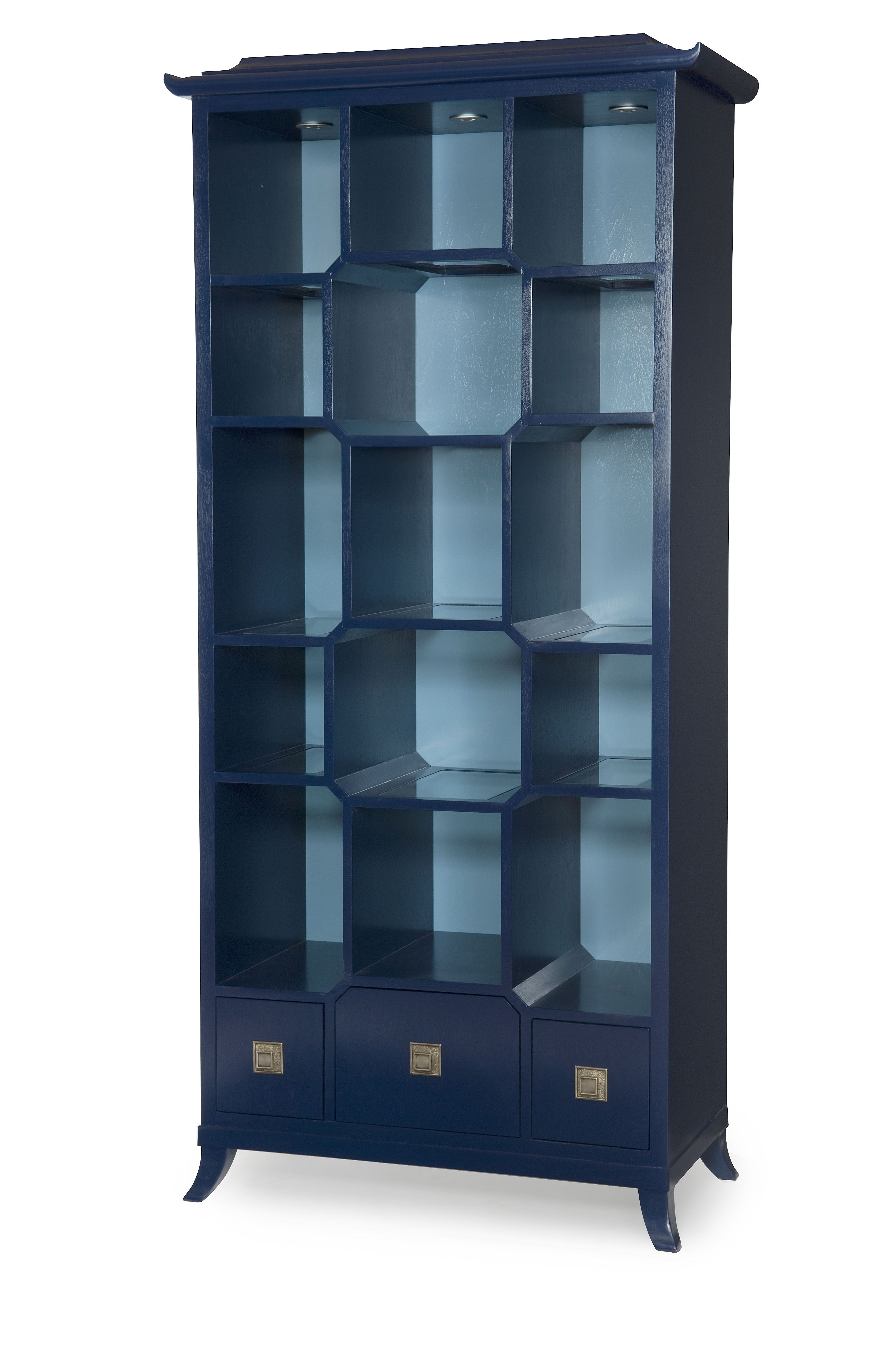 pagoda etagere from chin hua in blue all over midnight