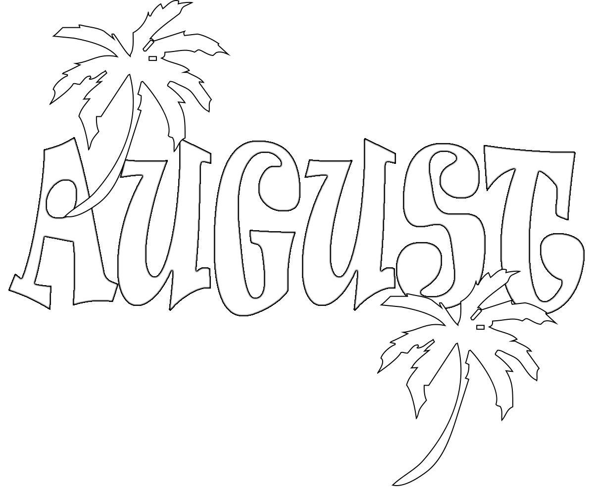 August Coloring Pages Preschoolers Free :Here you can get ...