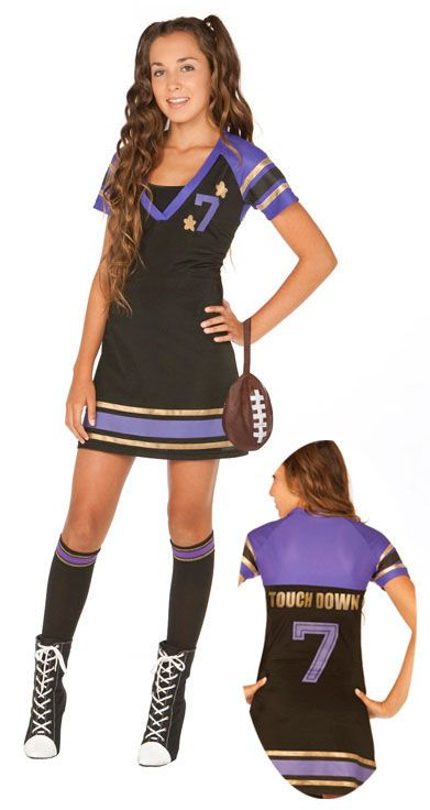 teen girl halloween costumes teen s sport costumes football halloween costume for teen girls - Halloween Costume Football