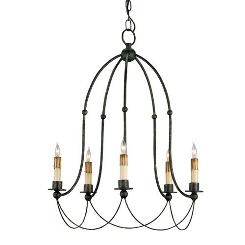 Derrymore Mayfair Five Light Chandelier Currey Company Candles