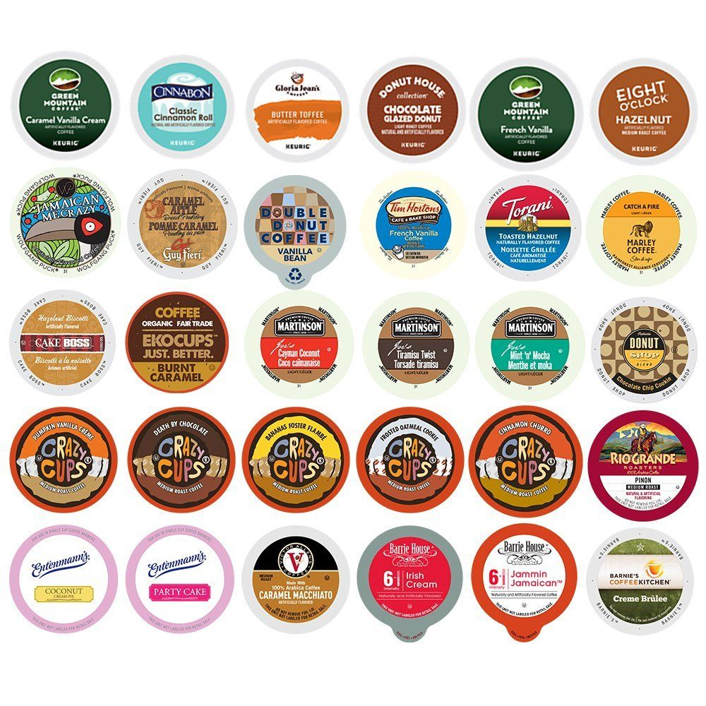 Flavored Coffee Single Serve Cups for Keurig K Cup Brewers