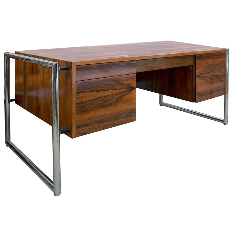 60's  Executive Rose Wood Desk