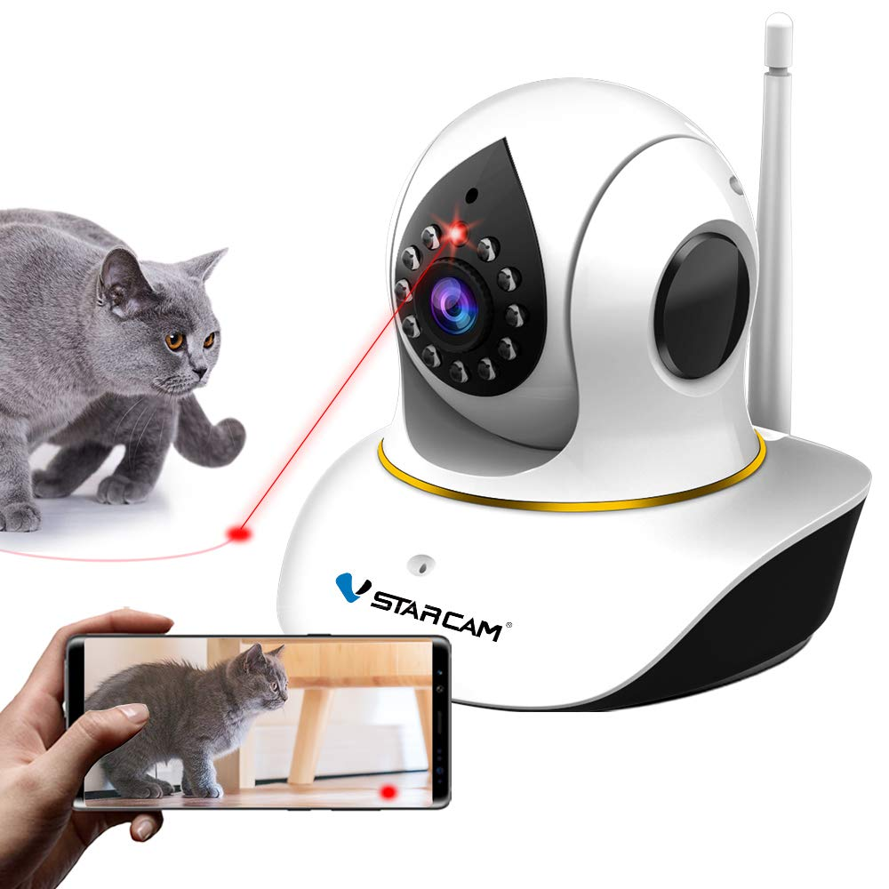 VSTARCAM Pet Camera with Interactive Laser for Cats & Dogs