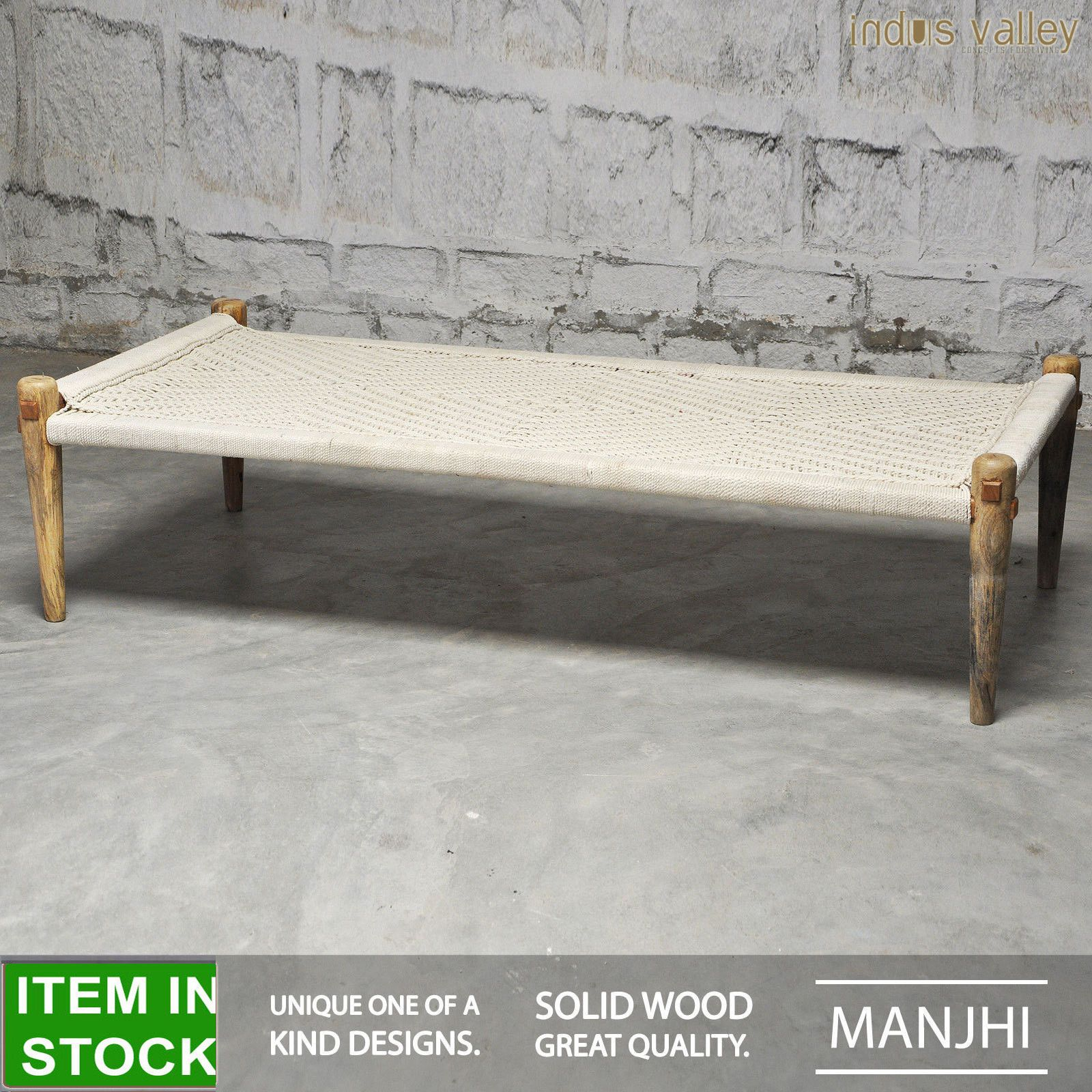 Manjhi woven Indian daybed day bed bench charpai charpoy manjha