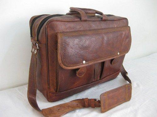 Leather Briefcase Office bag Large Mens Messenger Bag Soft Pure Leather Brown Leather Satchel Vintage Retro Look Leather Bag Handbag