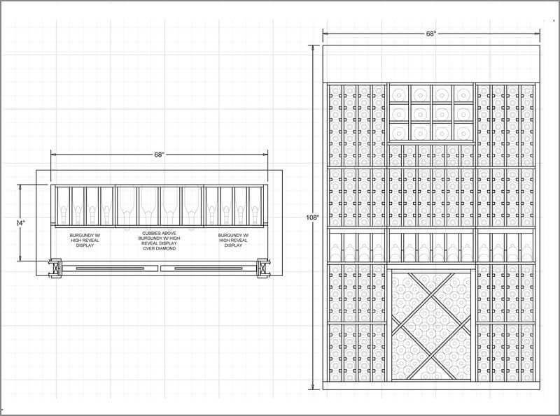 Wine Room Sample Design For 300 Wine Bottles Cellar Design Wine Cellar Design Wine Cellar