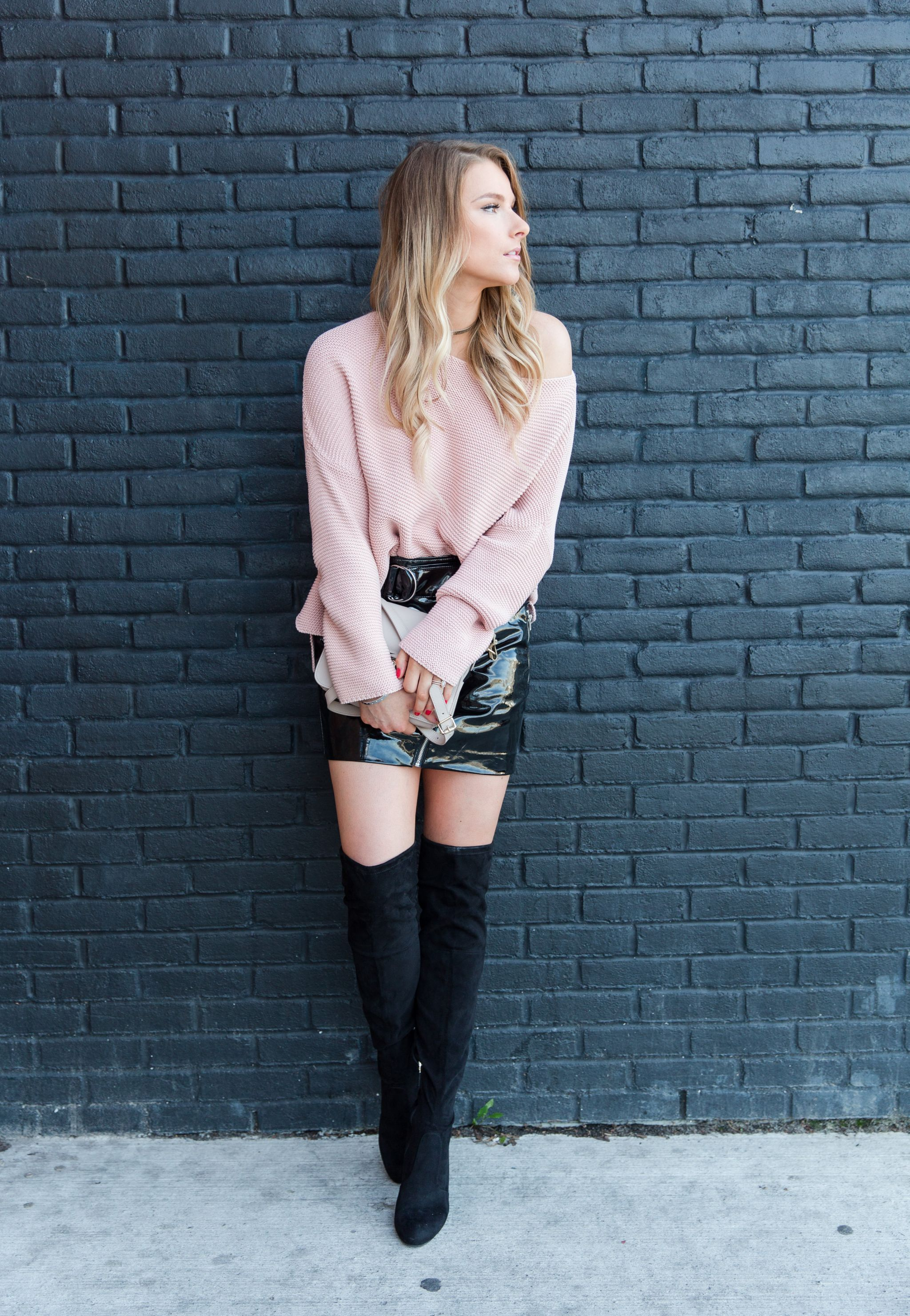 what to wear with a leather skirt 2012