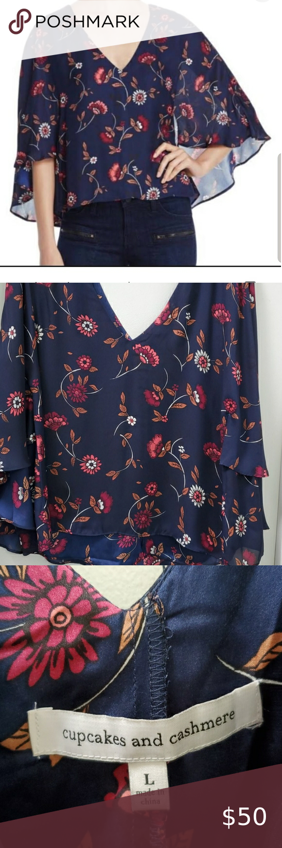 Cupcakes And Cashmere In 2021 Cupcakes And Cashmere Blue Floral Blouse Cashmere And Cupcakes [ 1740 x 580 Pixel ]
