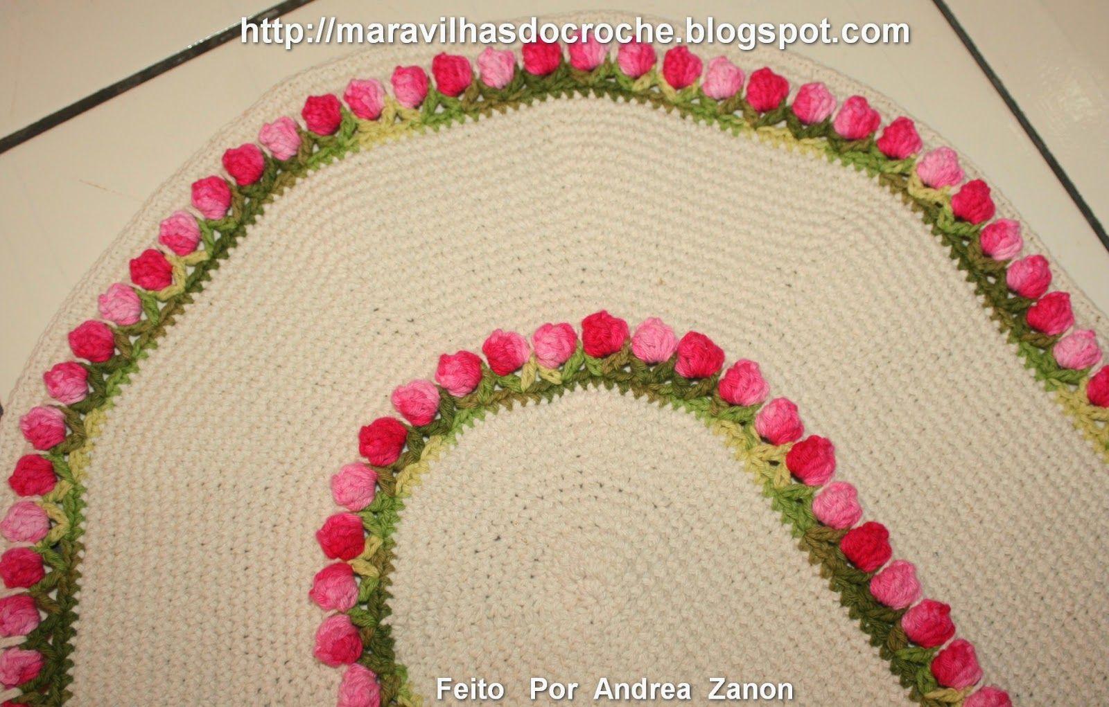 Resultado de imagem para colar de tulipinhas crochet