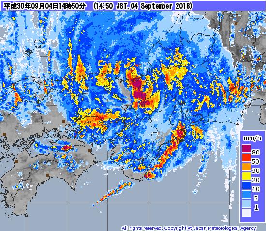 レーダー キャスト 気象庁 ナウ