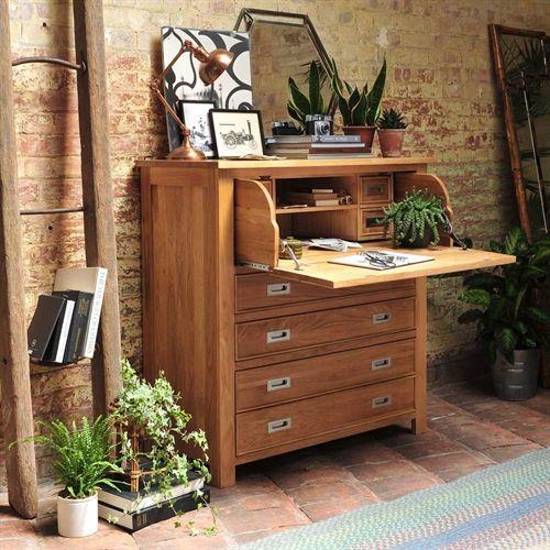 Light Oak Hidden Bureau