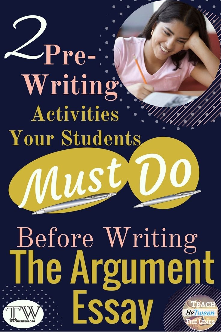 Argument Writing I Prewriting Activities Pre Teaching Lessons Essay