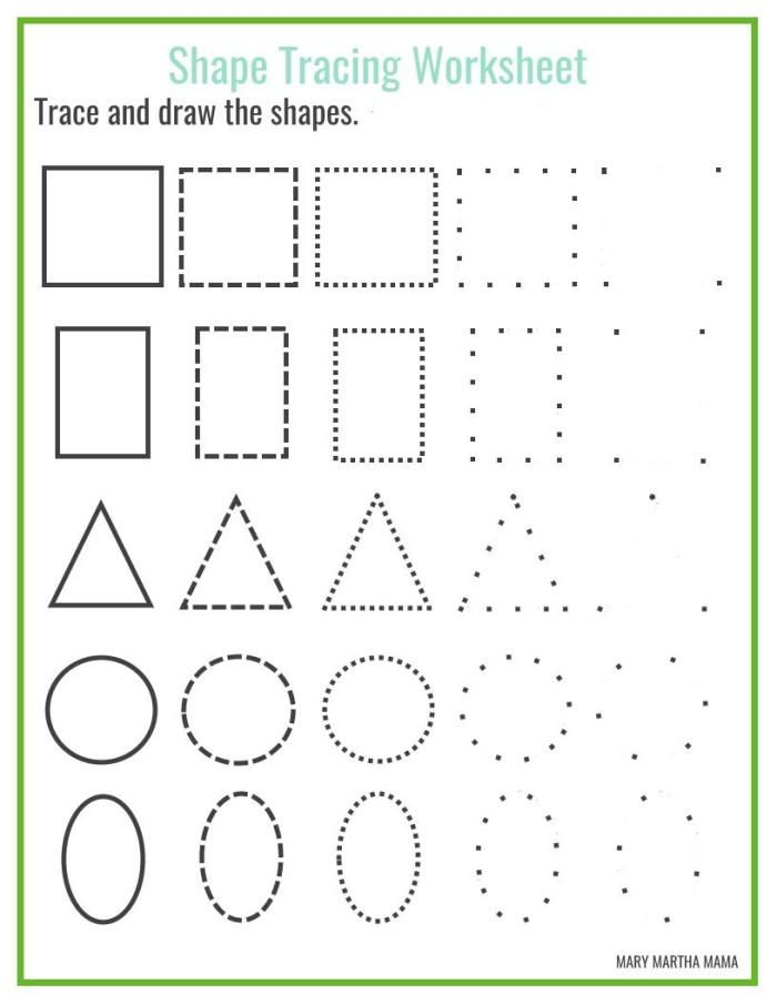 Shapes Worksheets For Kids Shapes Worksheet Kindergarten, Shape Tracing  Worksheets, Shape Worksheets For Preschool