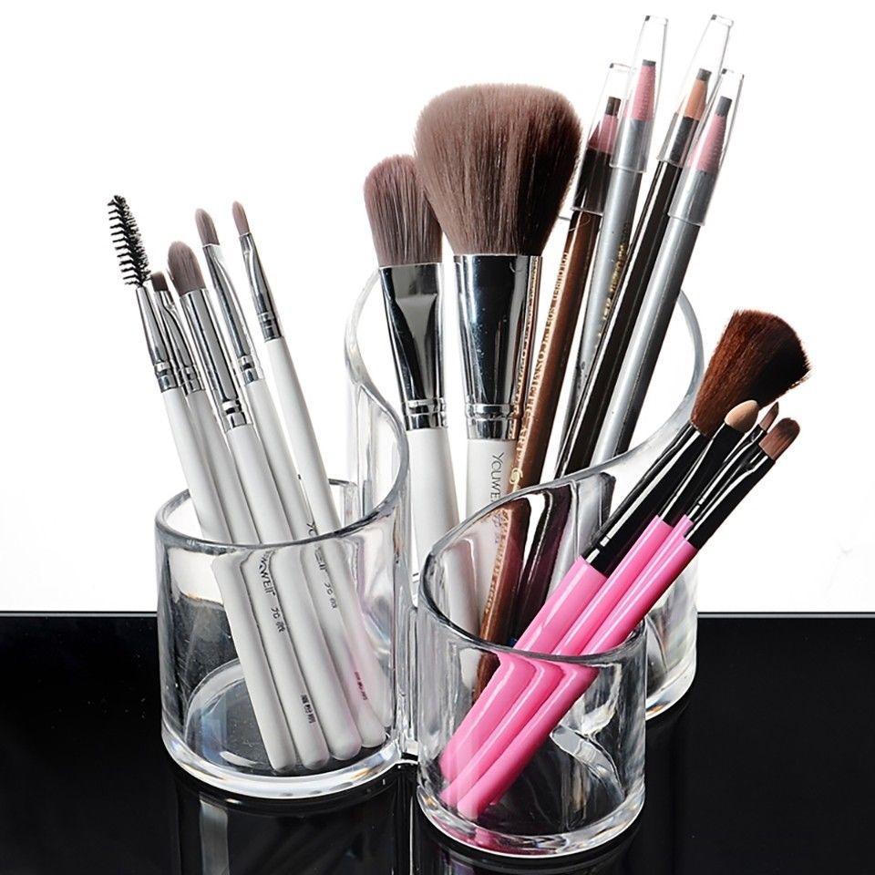 Makeup Stand Brush Holder Dryer Organizer Holes Tree
