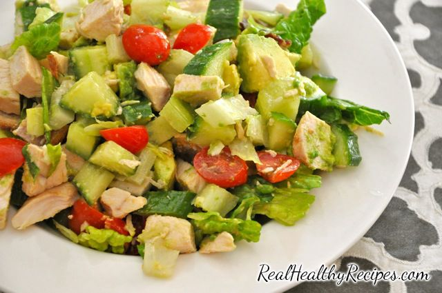 Best Healthy Chopped Chicken Salad Recipe With Bacon And Avocado