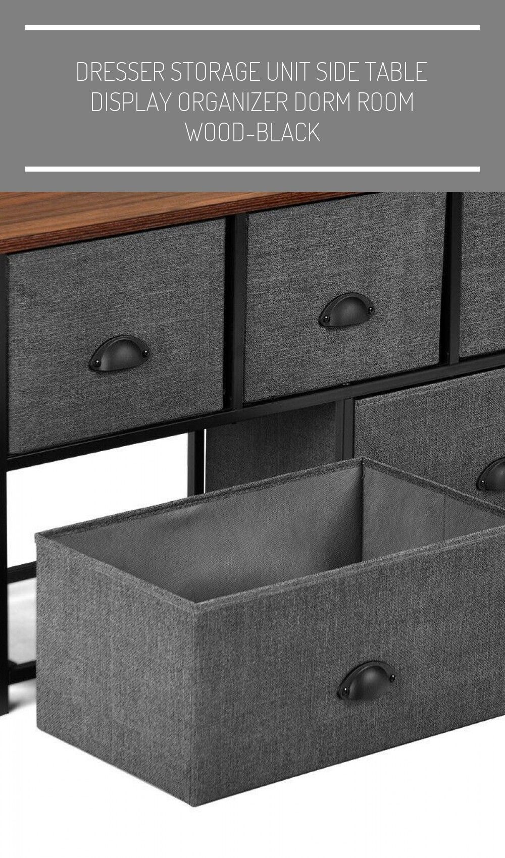 Dresser Storage Unit Side Table Display Organizer Dorm Room Wood Black Dorm Room Organization Dresser In 2020 Dorm Room Organization Dorm Organization Dresser Storage