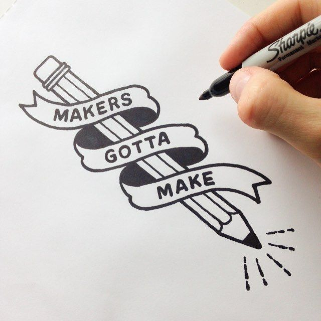 Any maker will tell you, it\'s a compulsion. #type #typography ...
