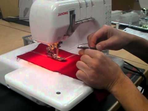 Finishing a coverpro seam and get all the threads underneath | Good ...
