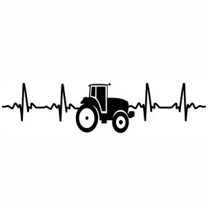 Tractor Heartbeat Love Farming Vector Clip Art In 2020 In A Heartbeat Svg Clip Art